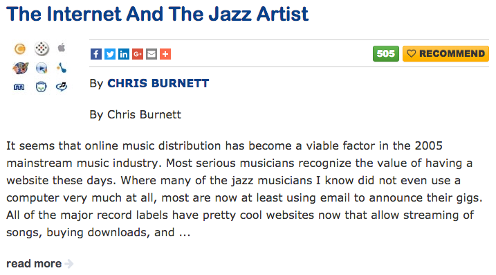 Click image to read at All About Jazz ...
