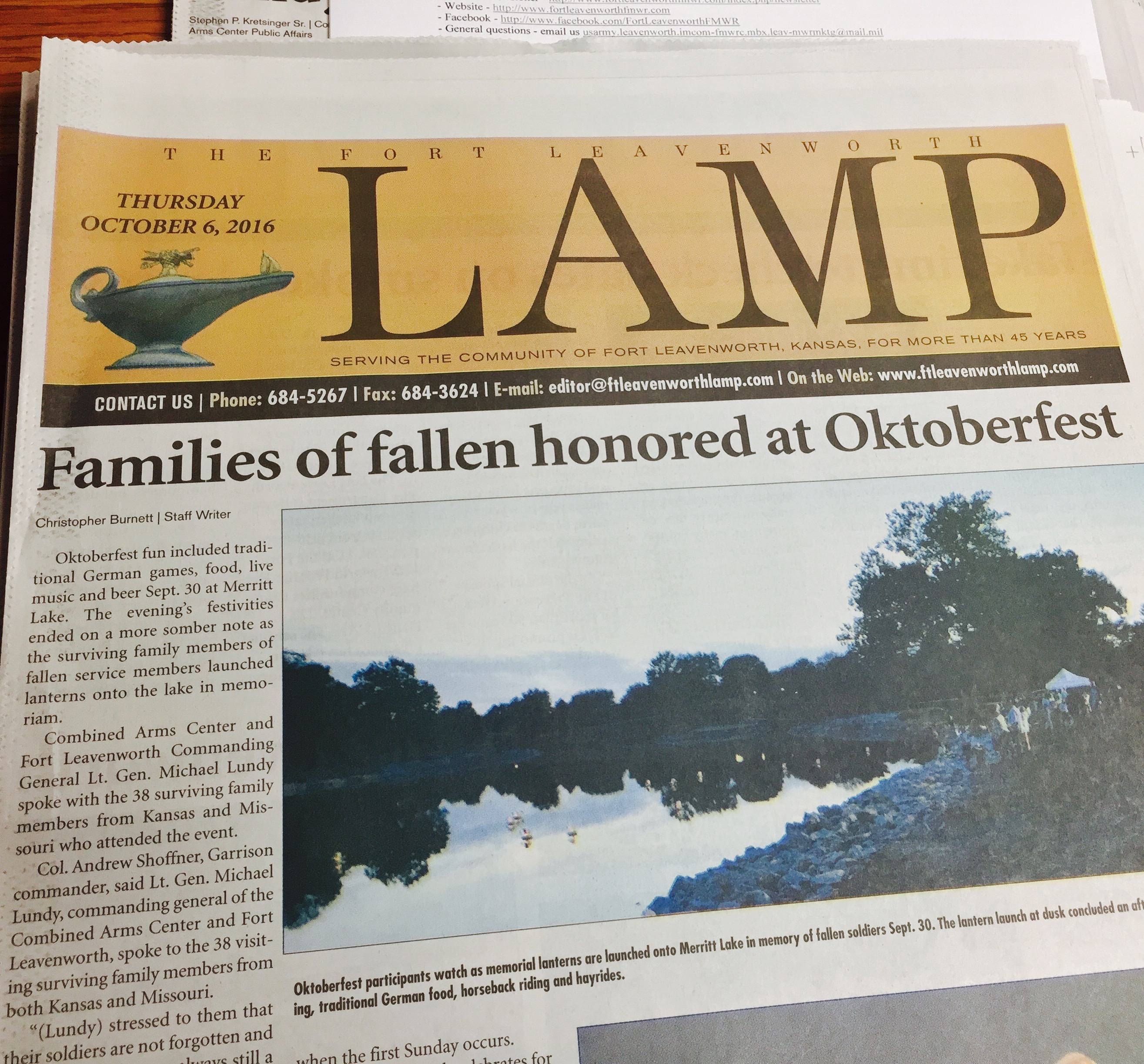 October 6, 2016 issue of the Lamp